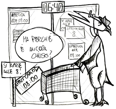 Pensiosauri - L'orario di apertura
