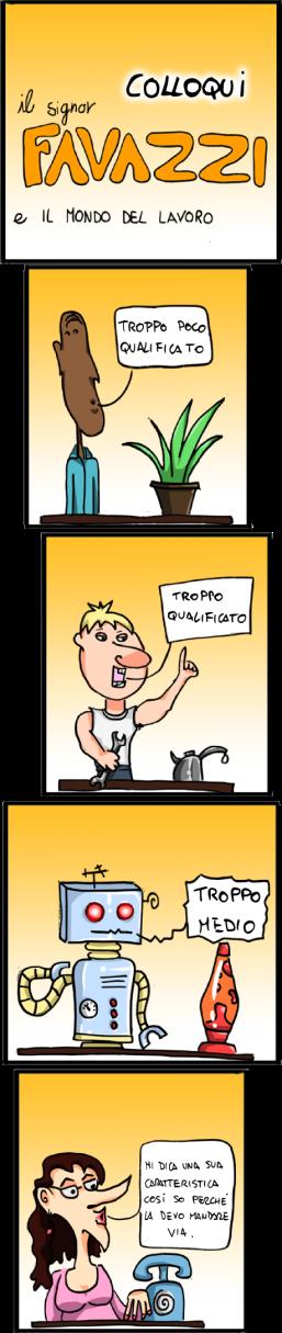 Il signor Favazzi e i colloqui